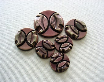 Wonderful Layered Vintage Celluloid Buttons