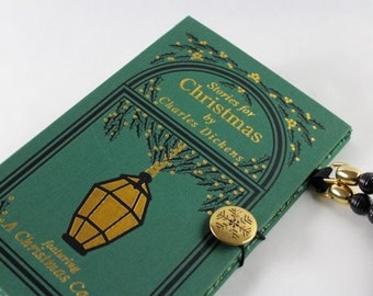 Sale Book Purse- Dickens Christmas - made from recycled vintage book