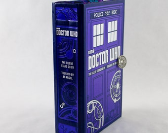 Book Purse- Doctor Who - made from recycled leatherbound book