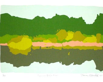 Summer Reflections 6 color limited edition serigraph screenprint