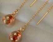 RESERVED - FINAL SALE - Oregon Stone Ear Threder Earrings