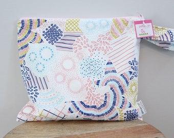Wet Bag wetbag Diaper Bag ICKY Bag wet proof pink floral gym bag swim cloth diaper accessories zipper gift newborn baby child kids summer