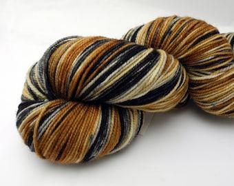 Queen's Tea Watercolor Stripes - Self-Striping Targhee Sock Yarn Made to Order