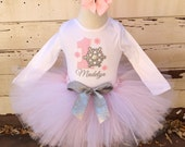 Pink & Silver Winter Onederland 1st Birthday Tutu Outfit- Personalized Baby Girl