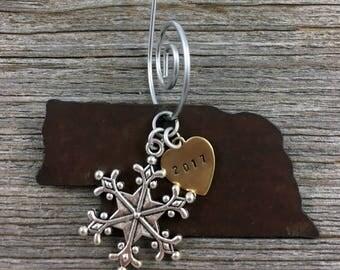 NEBRASKA Christmas Ornament SMALL, Nebraska Ornament, Christmas Gifts 2017 Christmas Ornaments, Personalized Gift, NEBRASKA Ornaments
