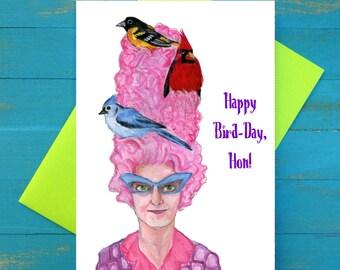 Happy Bird-Day Hon greeting card