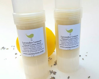 Lotion Stick, Lavender Lemon, All Natural, Natural Body Care, Coconut Oil, Shea Butter, Lotion Bar, Hands Free Lotion, Lotion Tube