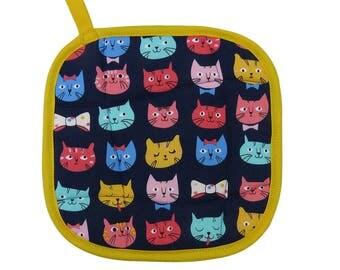 Bowtie Cats Pot Holder