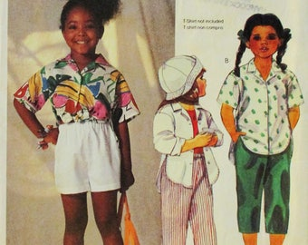 1980s Childs Sewing Pattern McCalls 2463 Childrens Shirt, Pants & Shorts Pattern Size 6 Uncut
