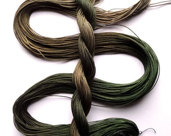 "Size 10 ""Adventurer"" hand dyed thread 6 cord cordonnet tatting crochet cotton"