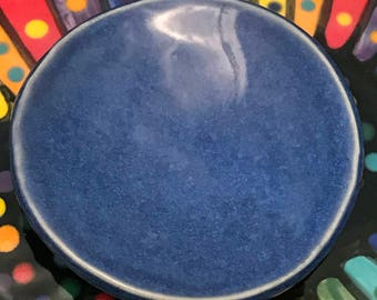 "Ceramic Stoneware Handmade Trinket Ring Dish Teabag Dish 3"" Indigo Float Blue Mother's Day Gift Ready to Ship 3"""