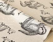 Japanese Fabric - SLOTHS canvas - A - 50cm