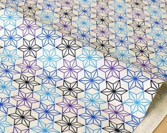 Japanese Fabric asagao - indigo, blue, purple - fat quarter