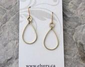 Droplets in Raw Brass Earrings