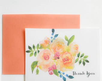 Greeting Card - Thank You - Floral card