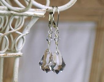 Crystal Earrings, Baroque Earrings, Swarovski Earrings, Dangle Earrings, Crystal Jewelry, Ice Crystal Earrings, Crystal Jewelry