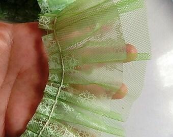 Vintage Plastic and Green Tulle Trim Craft Repurpose