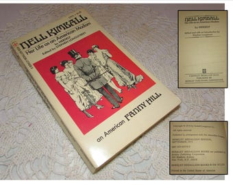 """Vintage Paperback book, """"Nell Kimball, Her life as an American Madam"""" Autobiography, 1971, Berkley Publishing"""