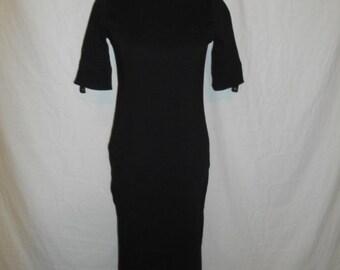 SALE 90's black ribbed dress      Ralph Lauren