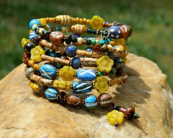 Clay Bead Boho Bangle