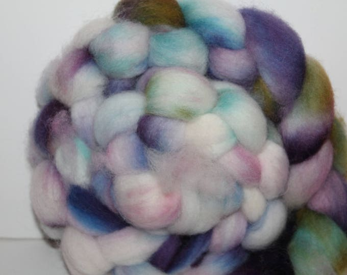 Kettle Dyed Cheviot Wool Top.  Easy to spin. 4oz  Braid. Spin. Felt. Roving. C122