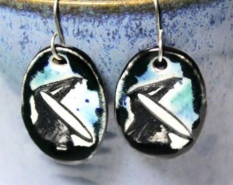 Radio Telescope Ceramic Earrings
