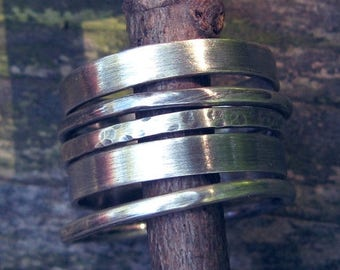 20% OFF TODAY Sterling silver multi width stacking rings