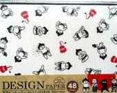 Japanese Paper - Origami Paper - 4 Patterns 48 Sheets 15 x 15 cm 5.9 x 5.9 inch - Sumo Wrestler - Samurai - Ninja - Kabuki (P8)