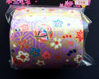 Japanese Fabric Tape Multi Pattern -Plum Blossoms - Flower Tape - Japanese Tape - Light Purple