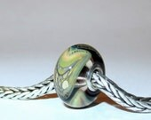 Luccicare Lampwork Bead - Dragon XII -  Lined with Sterling Silver