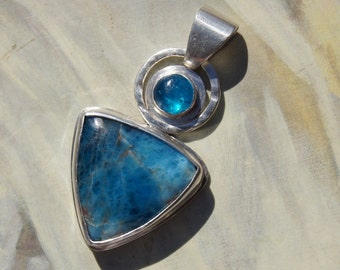 Apatite Gemstone and Sterling Silver Pendant
