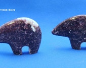 Purple Lapidolite from S Africa Dark Purple Zuni Bear Pendant or Stand alone New Zuni Bears Gemstone 45mm