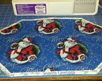 Super Cute set of 4 quilted placemats Christmas Santa Snowman
