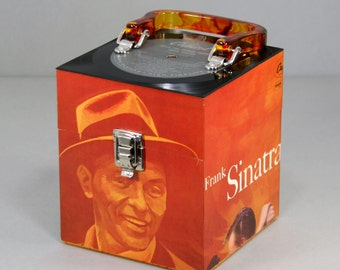 Recycled Record CD Case Cube Tote - Frank Sinatra - Songs For Swingin' Lovers - Ooops!