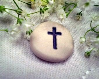 Pocket Cross, Christian Gift, Religious Token, Memorial Token, Church Retreat Gift, Baptism Gift, Easter Gift