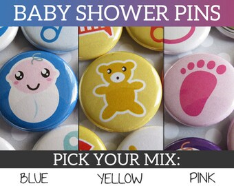 Baby Shower Giveaways - Baby Shower Guest Gifts - Cheap Baby Shower Favors - Baby Shower Favors Cheap - Baby Shower Pins (Set of 30)