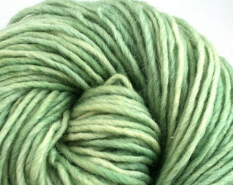 Brunswick Hand Dyed chunky weight 70/30 Corriedale wool Mohair blend yarn 140 yds 4oz Verdigris