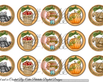 Fall / Thanksgiving  1 inch Digital Bottle Cap file