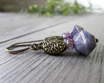Boho Dangle Earrings - Boho Earrings - Hypoallergenic - Titanium Earrings - Womens Earrings - Gift Idea - Purple Earrings - Dangle Earrings