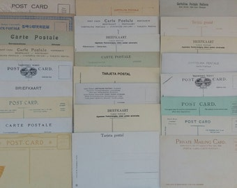 25 Vintage unused Postcards