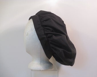 Black Muffin cap  for lady re enactors
