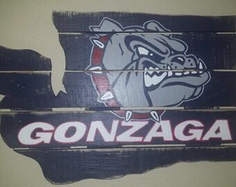 Gonzaga University Bulldogs  - Zags reclaimed lumber - Handmade