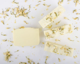 Jasmine Soap - Handmade Cold Process Shea Butter Soap - Valentines Day Gift - Gift For Her
