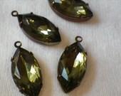 ON SALE 18% Off Black Diamond 18X9mm Glass Drops 4 Pcs