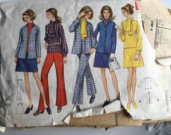 Vintage 5601 Butterick Pattern, Cut Pattern, Misses, Womens Clothing, Etsy, Etsy Vintage