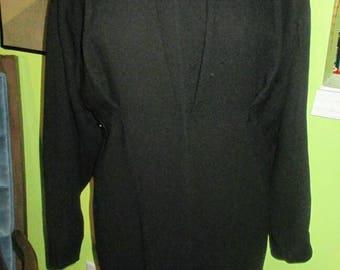 Ultra Chic Black Wool Karl Lagerfeld Sleek Abstract Dress