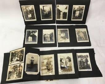 lot of 39 black & white vintage photographs antique scrapbook photo album New York souvenir Upstate 1925 Ovid NY 1926 Birmingham university