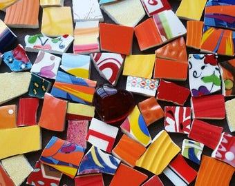Mosaic Tiles--Happy Potpourri  Mix- 100 Tiles