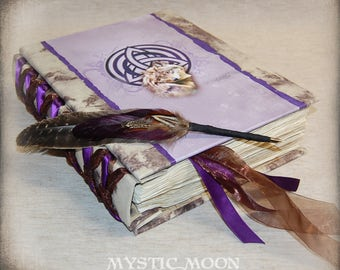 Celtic Wolf / Book of Shadows / Writing Journal / Charmed / Pagan / Triquetra / Binder / Spell book / Quill Pen / BOS