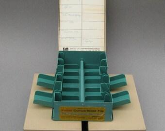 3 Green Kodak Compartment File Slide Storage Boxes Vintage Eastman Kodak 35mm Slide Box